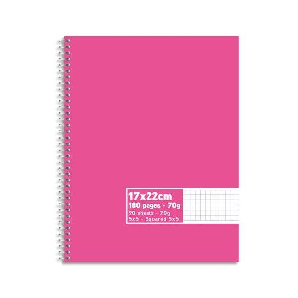 NEUTRE Cahier reliure intégrale 180 pages 70g 5x5 17 x 22 cm. Couverture carte assortis