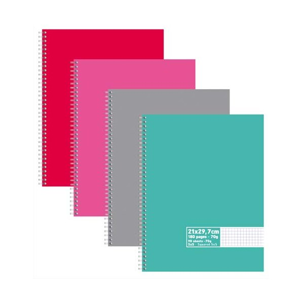 NEUTRE Cahier reliure intégrale 180 pages 70g 5x5 - 21 x 29,7 cm Couverture carte assortis