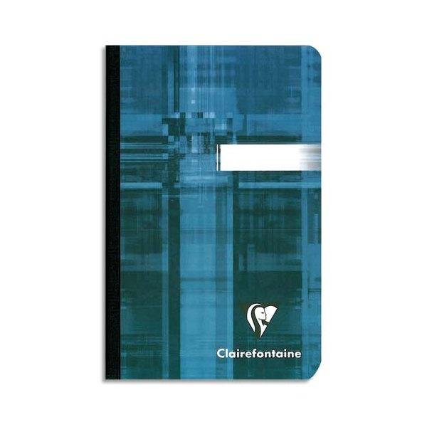 CLAIREFONTAINE Carnet reliure brochure11 x 17 cm 192 pages petits carreaux papier 90g