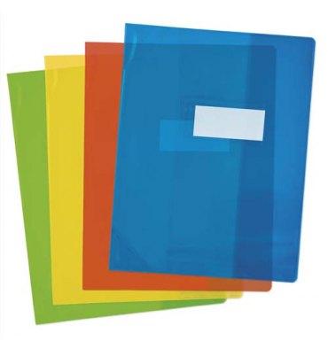 OXFORD Protège-cahier 17 x 22 cm Strong Line cristal + renforcés 30/100e. Coloris assortis