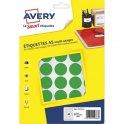 AVERY Sachet de 400 pastilles Ø 24 mm. Imprimables. Coloris vert