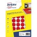 AVERY Sachet de 400 pastilles Ø 24 mm. Imprimables. Coloris rouge