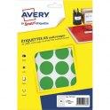 AVERY Sachet de 240 pastilles Ø 30 mm. Imprimables. Coloris vert