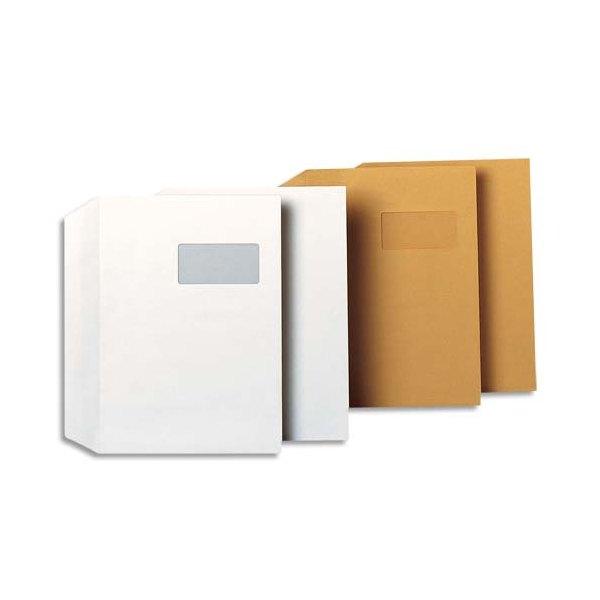 GPV Boîte de 250 enveloppes 229 x 324 mm blanches 100g auto-adhésives fenêtre 50 x 100 mm Qualité+