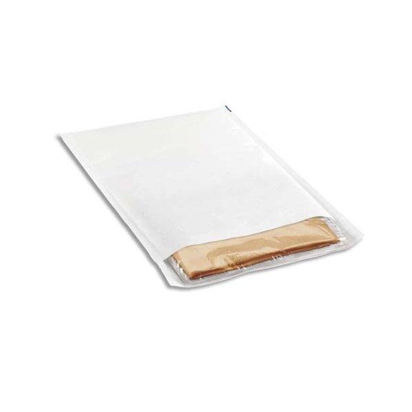 EMBALLAGE Paquet de 10 pochettes matelassées en kraft blanches bulles - 350 x 470 mm