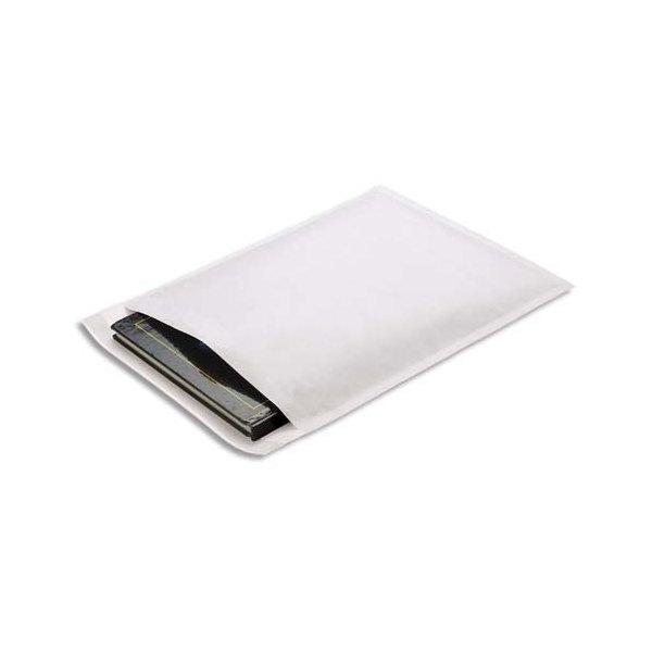 EMBALLAGE Paquet de 10 pochettes matelassées en kraft blanches bulles - 240 x 330 mm