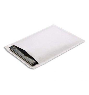 EMBALLAGE Paquet de 10 pochettes matelassées en kraft blanches bulles - 220 x 260 mm