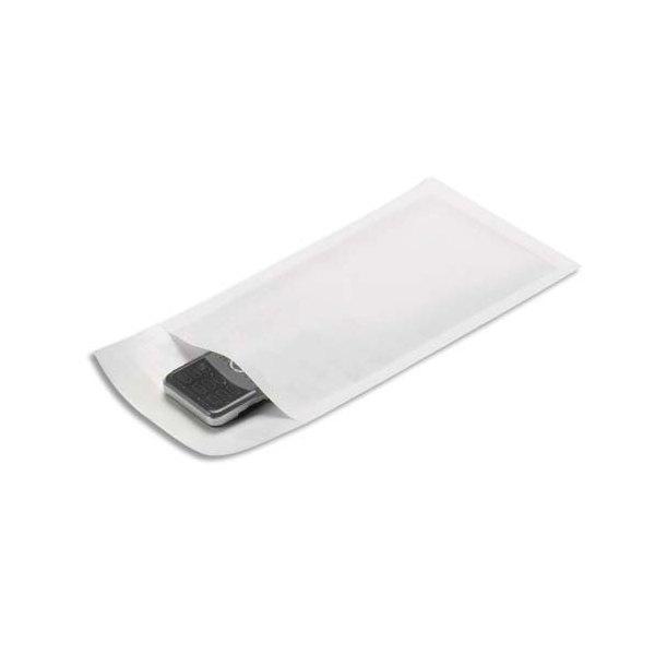 EMBALLAGE Paquet de 10 pochettes matelassées en kraft blanches bulles - 120 x 210 mm