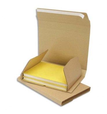 EMBALLAGE Etui postal en carton brun, fermeture adhésive Standard - 240 x 180 mm