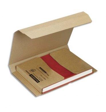 EMBALLAGE Etui postal en carton brun, fermeture adhésive Standard - 280 x 220 mm