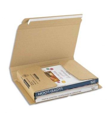 EMBALLAGE Etui postal en carton brun, fermeture adhésive Standard - 330 x 250 mm