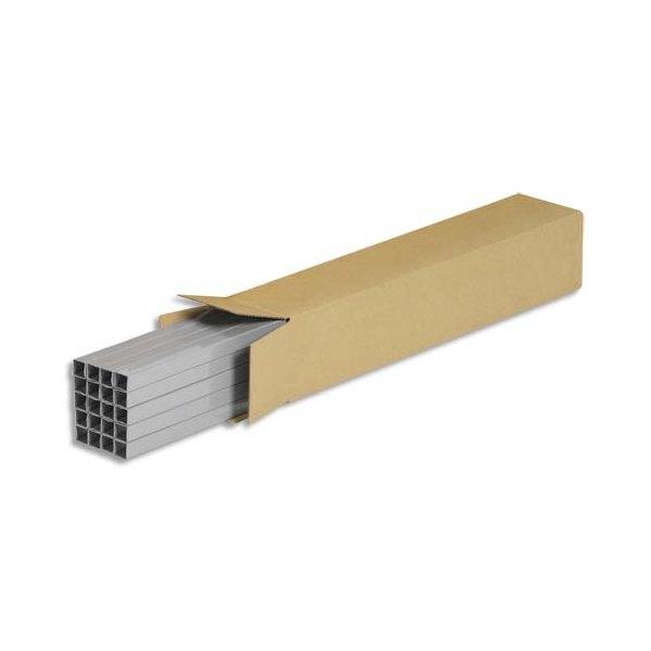 EMBALLAGE Caisse longue en carton brun simple cannelure - Dimensions : 60 x 10 x 10 cm