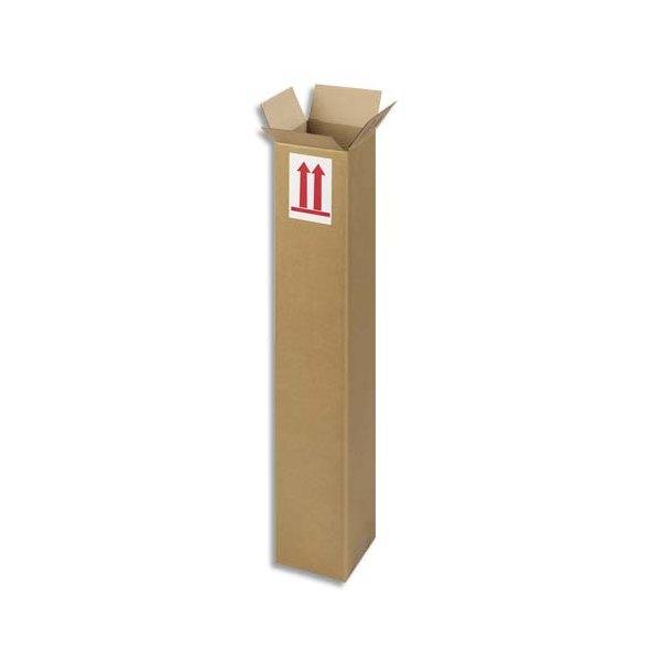 EMBALLAGE Caisse longue en carton brun simple cannelure - Dimensions : 80 x 15 x 15 cm