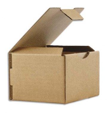 EMBALLAGE Boîte postale en carton brun simple cannelure - Dimensions : 12 x 8 x 10 cm
