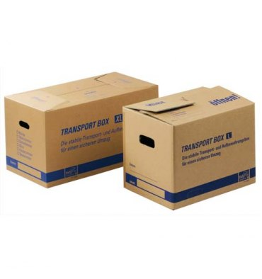TIDYPAC Carton de déménagement double cannelure format : 50 x 35 x 35,5 cm brun