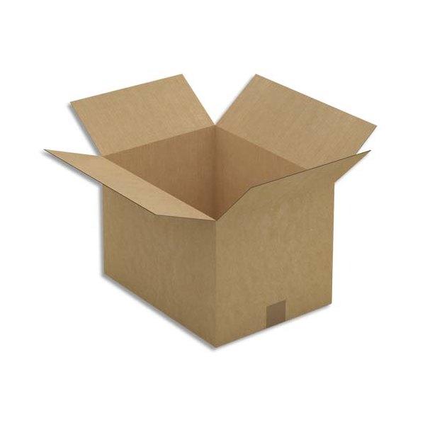 EMBALLAGE Paquet de 25 Caisses américaines simple cannelure en kraft brun - Dimensions : 40 x 27 x 30 cm