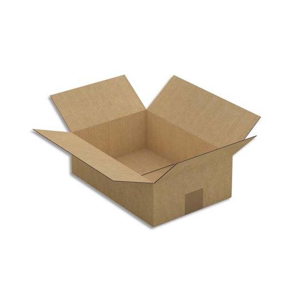 EMBALLAGE Paquet de 25 Caisses américaines en carton brun simple cannelure - format : 31 x 10 x 21,5 cm
