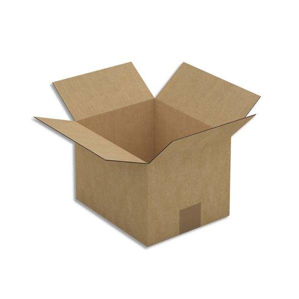 EMBALLAGE Paquet de 25 Caisses américaines en carton brun simple cannelure - format : 23 x 16 x 19 cm