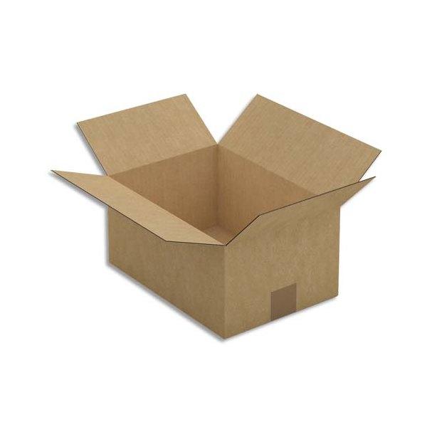EMBALLAGE Paquet de 25 Caisses américaines simple cannelure en kraft brun - Dimensions : 31 x 15 x 22 cm