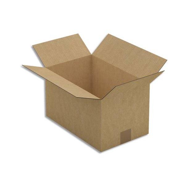 EMBALLAGE Paquet de 25 Caisses américaines simple cannelure en kraft brun - Dimensions : 35 x 20 x 22 cm