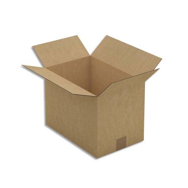 EMBALLAGE Paquet de 25 Caisses américaines simple cannelure en kraft brun - Dimensions : 35 x 25 x 23 cm