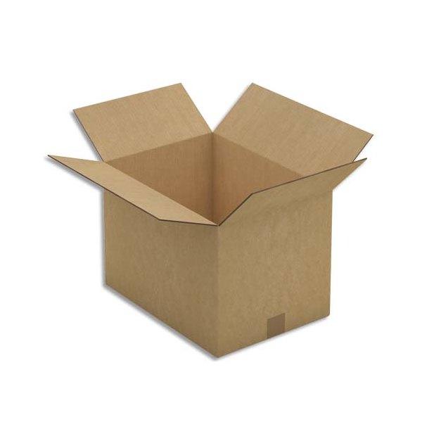 EMBALLAGE Paquet de 10 caisses américaines double cannelure en kraft écru - Dimensions : 43 x 30 x 31 cm