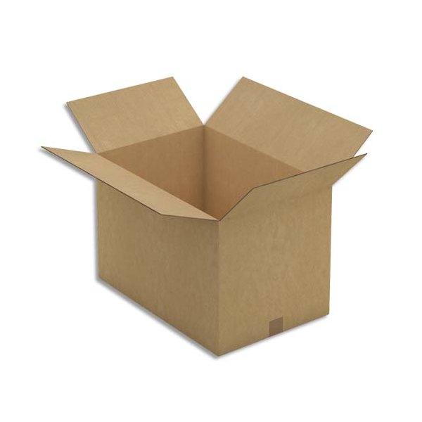 EMBALLAGE Paquet de 10 caisses américaine double cannelure en kraft brun - Dimensions : 60 x 40 x 40 cm