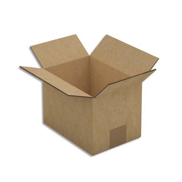 EMBALLAGE Paquet de 15 Caisses américaines double cannelure en kraft brun - Dimensions : 20 x 14 x 14 cm