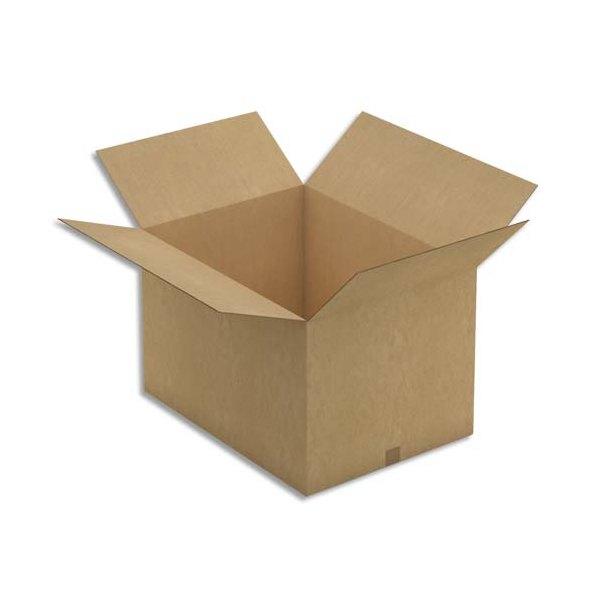 EMBALLAGE Paquet de 5 caisses américaine double cannelure en kraft brun - Dimensions : 78 x 40 x 58 cm