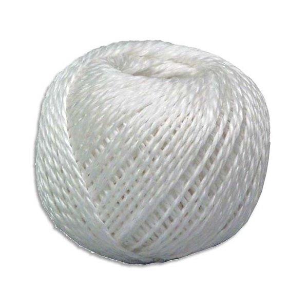 VISO Ficelle en polypropylène 250g - Longueur 88 m, diamétre Fil 3 mm coloris blanc