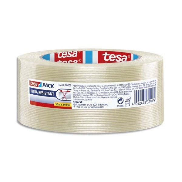 TESA Ruban armé renforcé en fibre de verre laminées 105 microns format 50 mm x 50 m