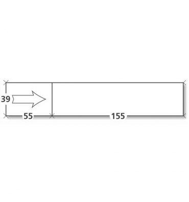 NEUTRE Boîte de 1000 étiquettes d'affranchissement 1 front format 155 x 39 mm