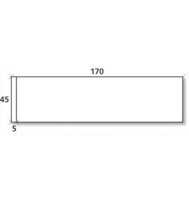 NEUTRE Boîte de 1000 étiquettes d'affranchissement 1 front format 170 x 45 mm