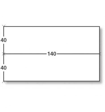 NEUTRE Boîte de 1000 étiquettes d'affranchissement 2 fronts format 140 x 40 mm