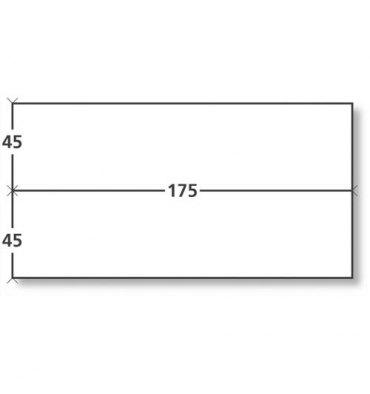 NEUTRE Boîte de 1000 étiquettes d'affranchissement 2 fronts format 175 x 45 mm