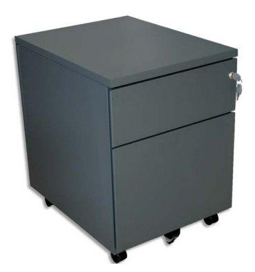 VINCO Caisson mobile 2 tiroirs dont 1 pour dossiers suspendus - L41,7 x H56,5 x P54,1 cm anthracite