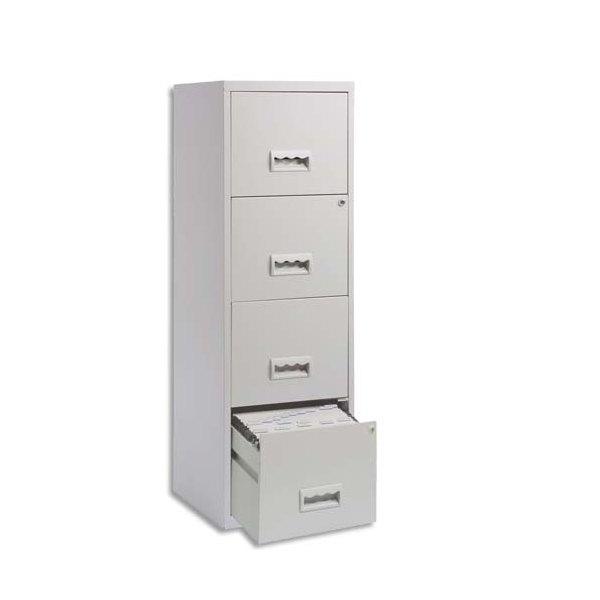 PIERRE HENRY Maxi Classeur pour dossiers suspendus 4 tiroirs - L40 x H126 x P40 cm gris