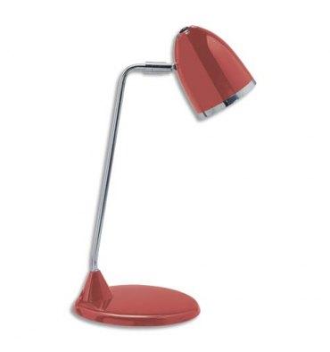 MAUL Lampe Starlet LED livrée avec ampoule bras métal chromé, hauteur 29 cm coloris rouge