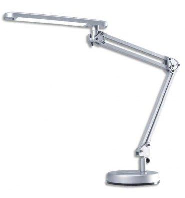 HANSA Lampe à led 4 Stars agenté ABS alu et métal - Bras 2 x 28 cm, Tête 28,4 x 4,5 cm Socle D15,3 cm