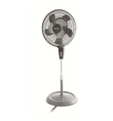 BIONAIRE Ventilateur sur pied 2 pales D40 cm à télécommande, L40 x H90-122 x P30 cm noir gris anthracite