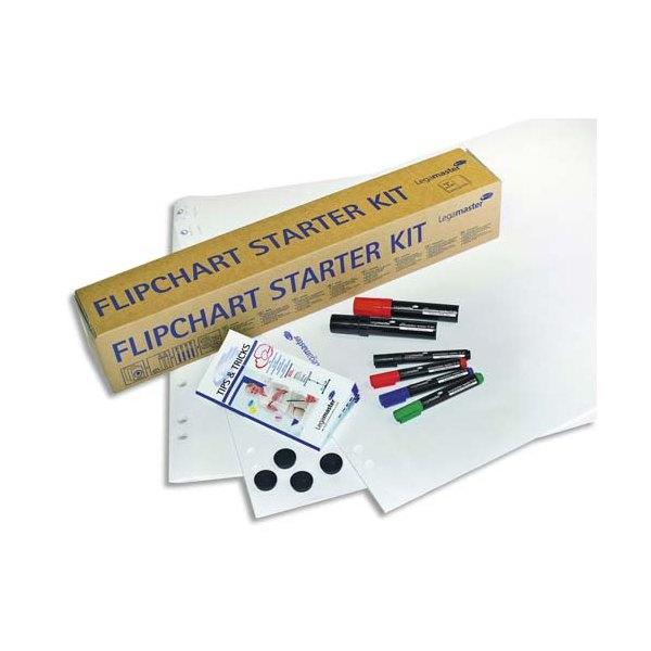 LEGAMASTER Kit de démarrage pour chevalet avec papier, marqueurs, aimants