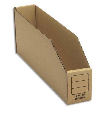 EMBALLAGE Paquet de 50 bacs à bec de stockage en carton brun 5,1 x 11,2 x 30,1 cm