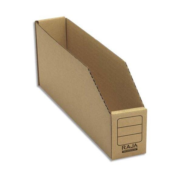 EMBALLAGE Paquet de 50 bacs à bec de stockage en carton brun 5,1 x 11,2 x 30,1 cm (photo)