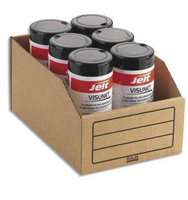 EMBALLAGE Paquet de 50 bacs à bec de stockage en carton brun 20,1 x 11,2 x 30,1 cm