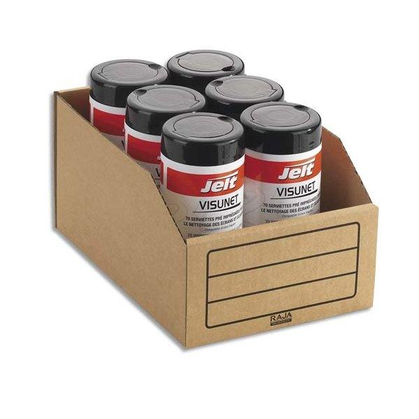 EMBALLAGE Paquet de 50 bacs à bec de stockage en carton brun 20,1 x 11,2 x 30,1 cm (photo)