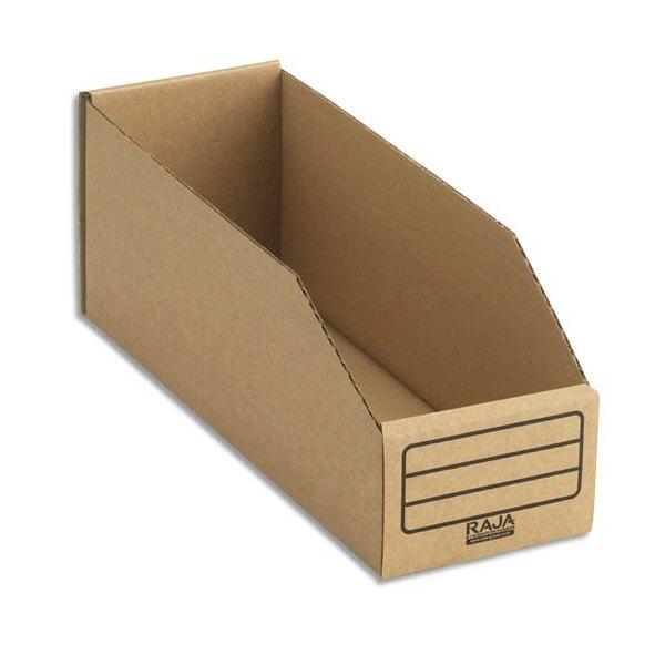 EMBALLAGE Paquet de 50 bacs à bec de stockage en carton brun 10,1 x 11,2 x 30,1 cm (photo)