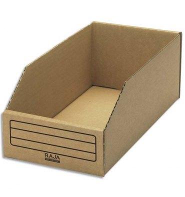 EMBALLAGE Paquet de 50 bacs à bec de stockage en carton brun 15,1 x 11,2 x 30,1 cm