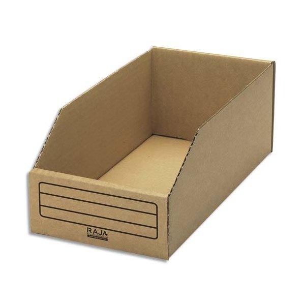 EMBALLAGE Paquet de 50 bacs à bec de stockage en carton brun 15,1 x 11,2 x 30,1 cm (photo)