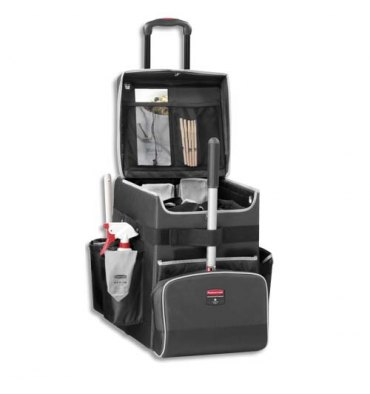 RUBBERMAID Chariot Quick Cart mobile multi-usage à compartiments - 41,9 x 53,3 x 36,3 cm gris foncé