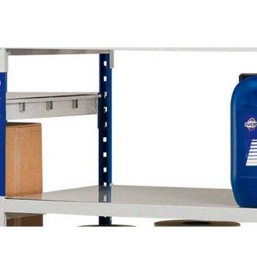 PAPERFLOW Lot 3 plaques pour rayonnage Rang Eco+ en métal - 100 x 7 x 60 cm coloris acier